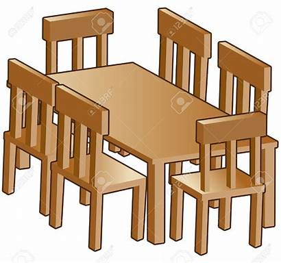 Table Clipart Dining Furniture Clip Dinner Simple