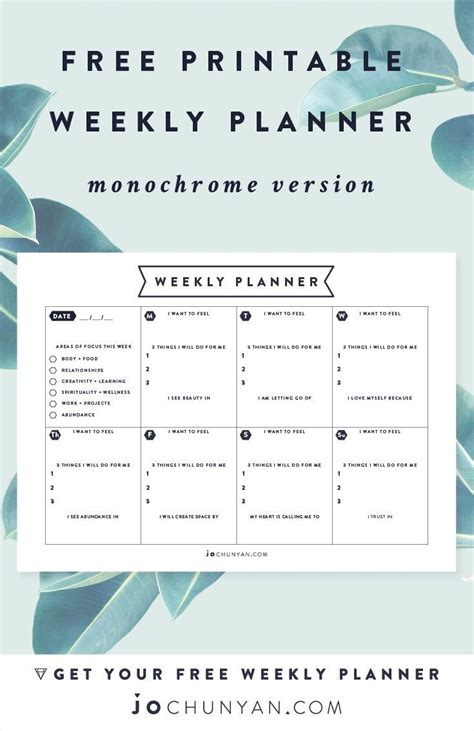 Planen Kostenlos by Free Printable Weekly Planner Printables Planer