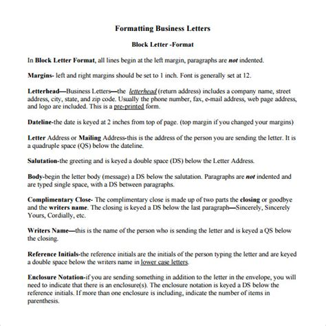 What Is The Proper Font To Use For A Resume by Proper Business Letter Format 8 Free Documents In Pdf Word