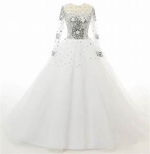l39ivresse women39s long sleeves crystals tulle ball gowns With wedding dresses on amazon