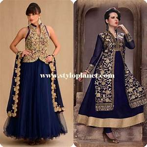 Jacket Style Anarkali Dresses Suits for Girls | Stylo Planet