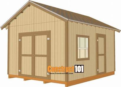 Shed 12x16 Roof Plan Plans Gabled Build