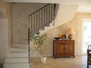 decoration de mur interieur en aspect pierre nos With decoration de mur interieur