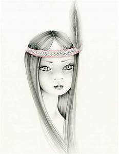 Pencil Drawing Illustration, Native from A Bit of Whimsy ...