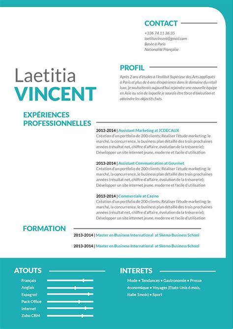 Exemple De Présentation De Cv by Mise En Page Cv Les Meilleurs Cv 183 Mycvfactory