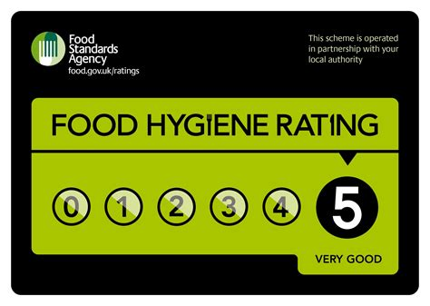 table dining food hygiene rating 5
