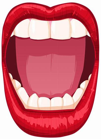 Mouth Open Clip Clipart Cartoon Transparent Drawing