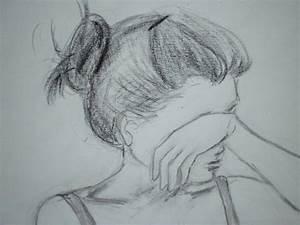 childish drawing, unsuccessful cooking: Sad 傷心的時候