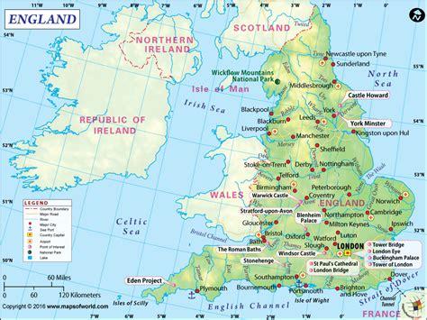 map  england dream places spaces   england