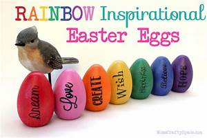 Inspirational Rainbow Easter Eggs - Happiness is Homemade