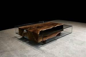 Meuble Bois Brut : table salon bois brut l 39 artisanat et l 39 industrie ~ Teatrodelosmanantiales.com Idées de Décoration