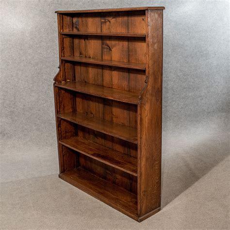Antique Oak 5' Waterfall Open Bookcase Display Shelves