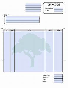 Free landscaping lawn care service invoice template for Landscaping invoice template
