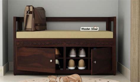 buy berwick designer shoe rack walnut finish