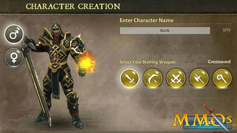 dungeon hunter dh5 games creation character mmos game