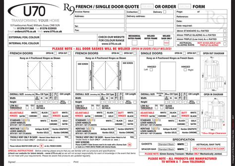 Order Doors by R9 Order Forms