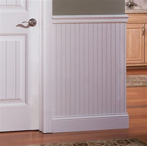 36 Inch Wainscoting by White Beadboard Sheet 4 X 8 X 3 16 Quot In A Paintable
