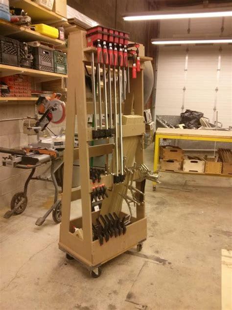 mobile clamp rack  adrianm  lumberjockscom