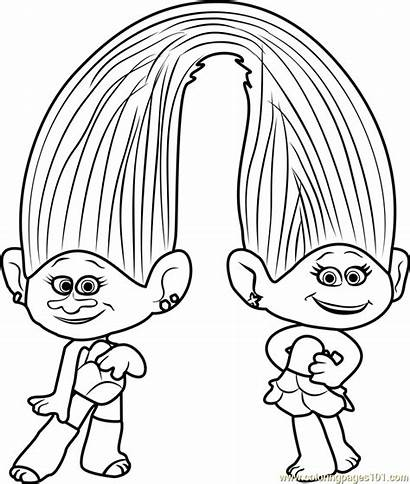 Coloring Troll Doll Trolls Pages Printable Getcolorings