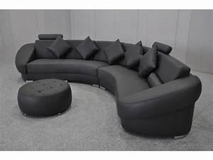 canap rond design gallery of canap dangle design en cuir With tapis champ de fleurs avec canapé droit 4 places cuir