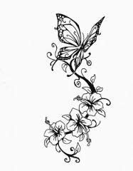 vines and flowers drawing - Google Search | drawings | Pinterest | Tattoos, Butterfly tattoo