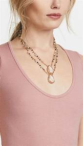 lyst gas bijoux collier scapulaire serti necklace in With bijoux collier