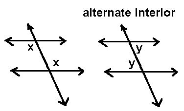 alternate interior angles are alternative interior angles equal socratic