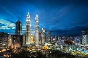 Photos Kuala Lumpur Malaysia Megapolis Night Skyscrapers ...