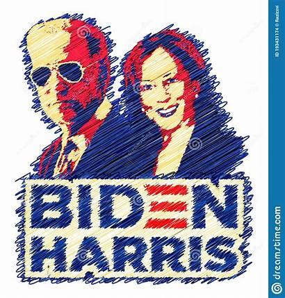 Biden Harris Kamala Joe Election Campaign Scribble