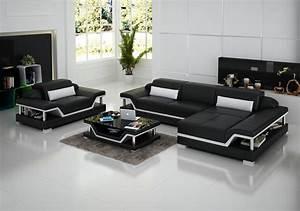 Italian style modern sofa living room furniture leather ...