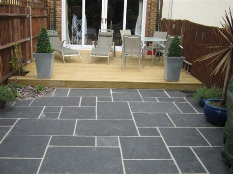 black limestone pavers