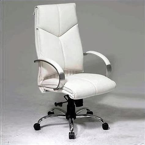 white executive desk chair white leather executive office chair 7270