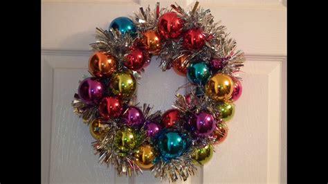 christmas bauble wreath youtube