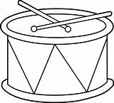 Drum Coloring Clip Marching Clipart Line Sweetclipart sketch template