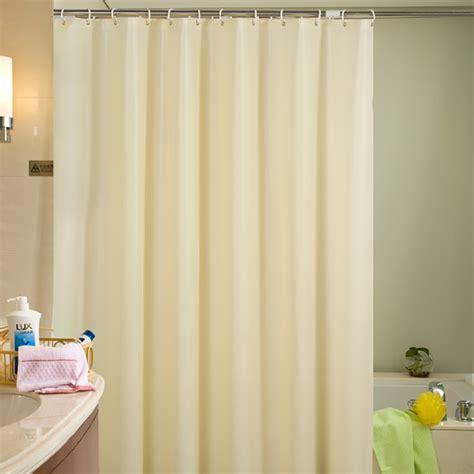 beige plastic shower curtain eco friendly waterproof mold