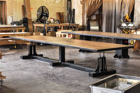Post Industrial Conference Table   Vintage Industrial Furniture