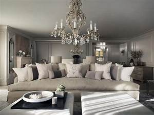 Kelly hoppen living room projects using contemporary lighting