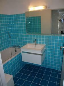 luxe carrelage salle de bain avec carrelage mosaique bleu With carrelage bleu turquoise salle de bain