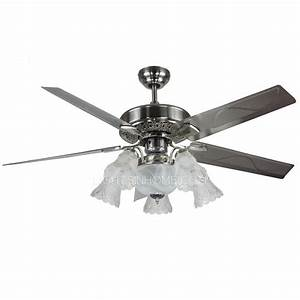 Ceiling lights design antique ham silver fan with