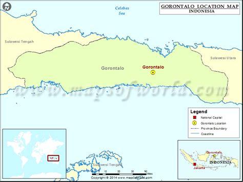 gorontalo location  gorontalo  indonesia map
