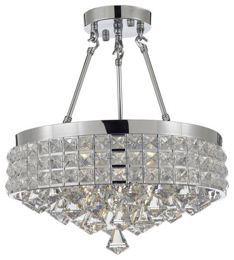 gspn semi flush mount chandelier chrome