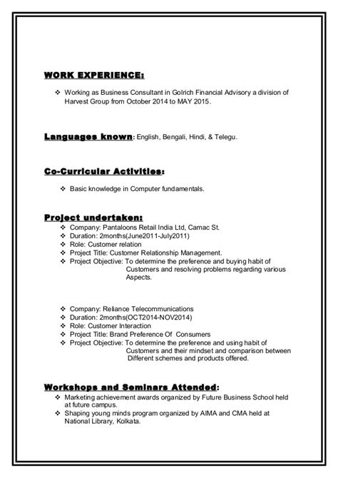 Cv updated with mba and m.com.2015 1