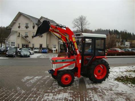 kleintraktoren gebraucht ebay kleintraktor traktor allrad kubota l2402 gebraucht mit frontlader und kabine ebay