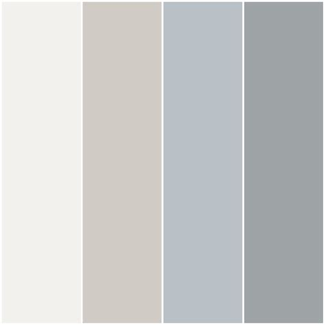 color palette i made for my house with behr paint in nano