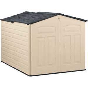 rubbermaid 96 cu ft slide lid shed beige walmart