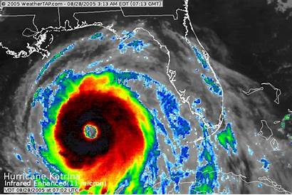 Infrared Katrina Enhanced Hurricane