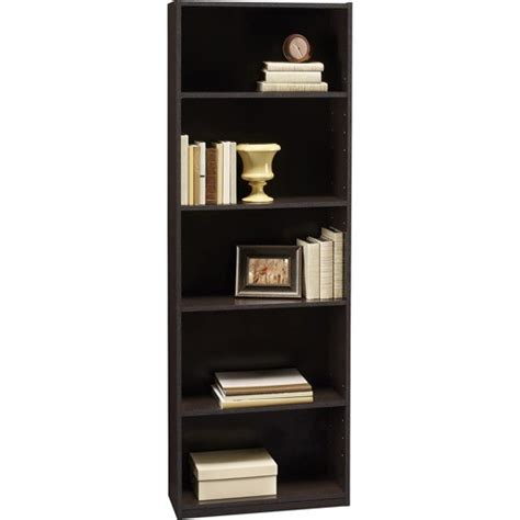 1 Foot Wide Bookshelf by Ameriwood 5 Shelf Wood Bookcases Choice Finishes