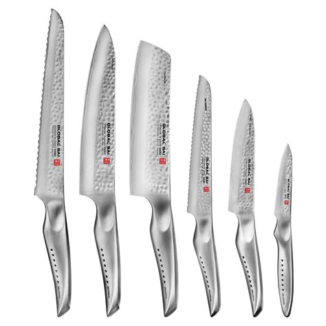 global sai knife block set  piece cutlery