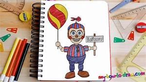 How To Draw Balloon Boy Fnaf