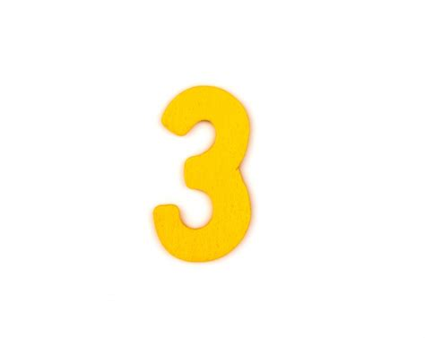 Yellow Number 3 Photo